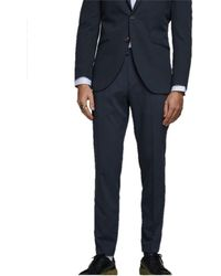 Jack & Jones Pantalons de costume 12167726 - Bleu