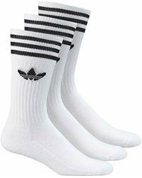 adidas Sokken Solid Crew Sock S21489. - Wit