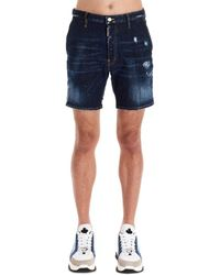 DSquared² Short SHORTS HOMME - Bleu