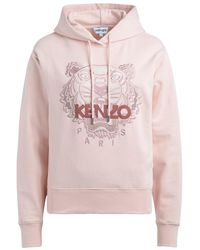 KENZO Sweat-shirt Sweat-shirt Tiger à capuche rose clair