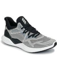 Lyst Adidas AlphaBounce más allá de hombres' s corriendo trainers in negro en