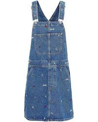 Tommy Hilfiger Combinaisons CLASSIC DUNGAREE DRESS - Bleu