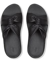 Fitflop TWISS SLIDE - BLACK CO Mules - Noir