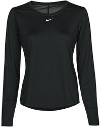 Nike W NK ONE DF LS STD TOP T-shirt - Noir