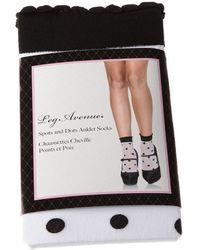 Leg Avenue Calcetines Medio alto - Spots and dots anklets - Blanco
