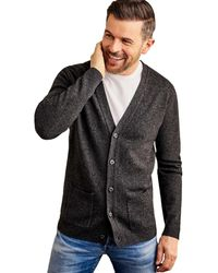 Woolovers Lambswool V Neck Cardigan - Grey