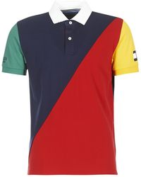 Tommy Hilfiger - Aiden-blocking-polo-s/s-rf Men's Polo Shirt In Multicolour - Lyst