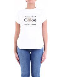 Chloé T-shirt Korte Mouw Chc20ajh072881 - Wit