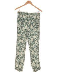 H&M Pantalon Droit Femme 34 - T0 - Xs Pantalon - Vert