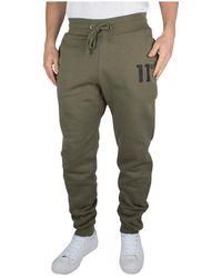 11 Degrees - Men's Core Logo Joggers, Green Men's Sportswear In Green - Lyst
