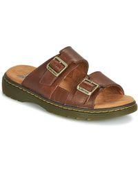 6f28df05bb7 Dr. Martens - Nikolai Men s Mules   Casual Shoes In Brown - Lyst