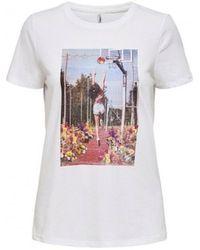 ONLY T-shirt Korte Mouw Priya 15206121 - Wit
