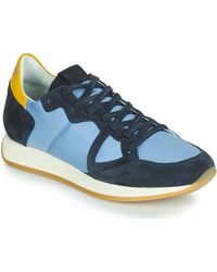 Philippe Model Lage Sneakers Monaco Vintage Basic - Blauw