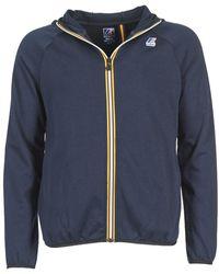 K-Way Sweat-shirt VICTOR FLEECE - Bleu