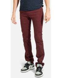 Kebello Jeans Jean 5 Poches H Bordeaux - Rouge