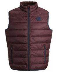 Jack & Jones Donsjas Jjemagic Bodywarmer Collar 12173754 - Rood