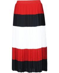 Tommy Hilfiger Rok Crepe Pleated Midi Skirt - Rood