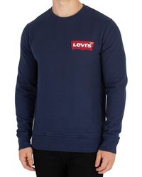 Levi's - Levis Men's Modern Batwing Sweatshirt, Blue Men's Sweatshirt In Blue - Lyst