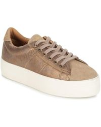 cc0127d7fc8 No Name Plato Platform Sneakers in Natural - Lyst