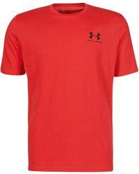 Under Armour Camiseta de manga corta UA Sportstyle Left Chest - Negro
