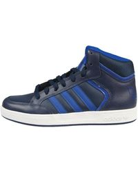 Adidas Originals Varial Mid Men S Shoes High Top Trainers In Blue