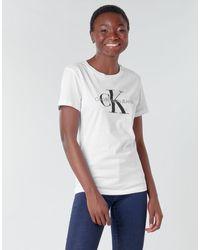 Calvin Klein T-shirt con logo - Bianco
