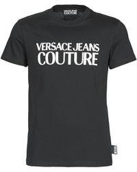 Versace Jeans Couture T-shirt Met Logoprint - Zwart