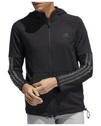 adidas - 3S FZ Hoodie Sweat-shirt - Lyst