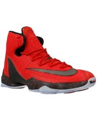 Nike - Lebron Xiii Elit University Red Men's Basketball Trainers (shoes) In  Black -