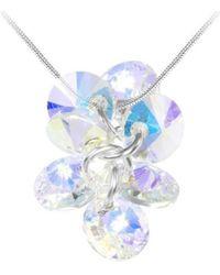 Sc Crystal Collier BS136-SN016-IRIS - Blanc
