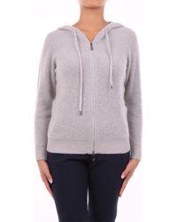 Peserico S99626F079017J avec fermeture éclair Femme Sweat-shirt - Gris