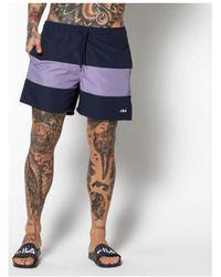 Fila Short Brock beachshorts - Bleu