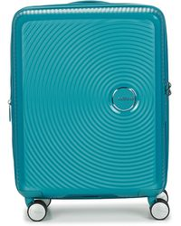 American Tourister Sounbox 55cm Hard Suitcase - Blue