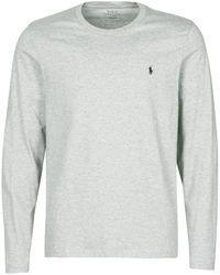 Polo Ralph Lauren T-shirt L/S CREW-CREW-SLEEP TOP - Gris
