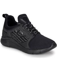 EA7 Lage Sneakers Racer Reflex Cc - Zwart