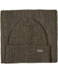 Barbour Sciarpa/cappello verde MGS0019-OL71 Bonnet - Vert