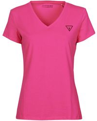 Guess SS VN MINI TRIANGLE TEE T-shirt - Rose