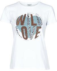 Liu Jo T-shirt Korte Mouw Wf0098-j5003 - Wit