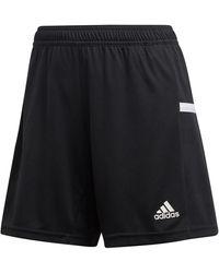 adidas Korte Broek Team19 Knit Short Women - Zwart