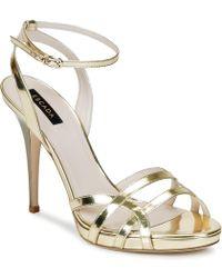 ESCADA - As683 Women's Sandals In Gold - Lyst