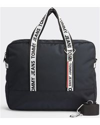 Tommy Hilfiger Am0am05535 Tape Computer Bag - Black