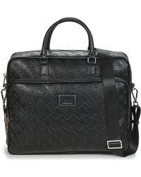 Guess Aktetassen Dan Logo Briefcase - Zwart