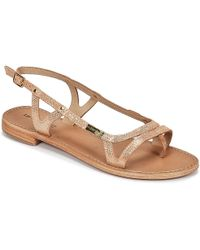 Les Tropéziennes Par M Belarbi - Isatis Women's Sandals In Gold - Lyst