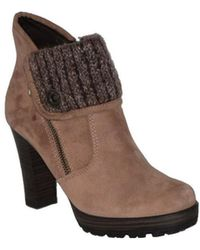 Tamaris - 1 25432 29 428 Women's Low Ankle Boots In Beige - Lyst