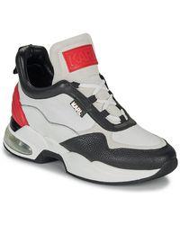Karl Lagerfeld Lage Sneakers Ventura Lazare Mid Ii Lthr - Wit