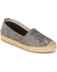 Nome Footwear GRAPHI femmes Espadrilles en Argenté - Métallisé