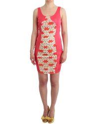 Gianfranco Ferré Multicolour Bodycon Viscose Dress Dress - Red