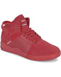 Supra - Skytop Iii Cd Women's Shoes (high-top Trainers) In Red - Lyst