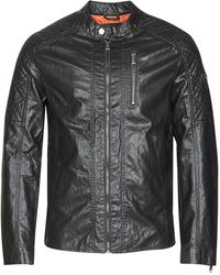 Guess Leren Jas Quilted Eco Leather Jacket - Zwart