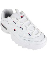 Fila Lage Sneakers D-formation White/navy/red - Wit